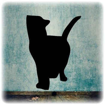 Многоразовый трафарет Кошки 7