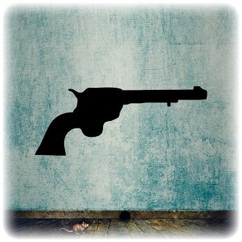 Многоразовый трафарет Револьвер