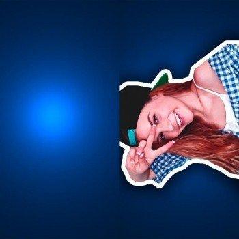 Наклейка на телефон Марьяна Ро Синий фон
