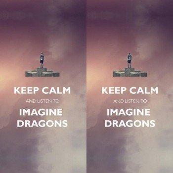 Наклейка на телефон Keep Calm: Imagine Dragons [by Energetic]
