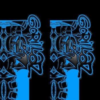 Наклейка на телефон GORILLAZ / Blue symbols