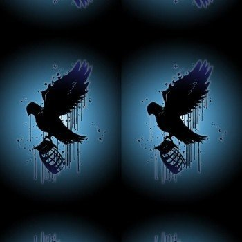 Наклейка на телефон Bird HOLLYWOOD UNDEAD / BlackBlue