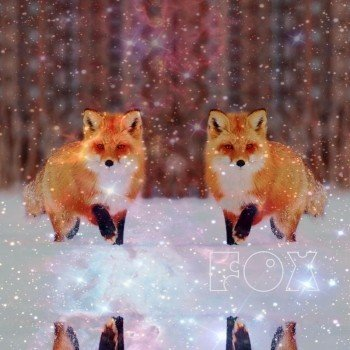 Наклейка на телефон THE FOX [SPACE winter]