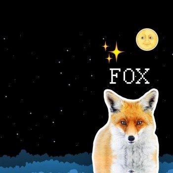 Наклейка на телефон FOX & MOON