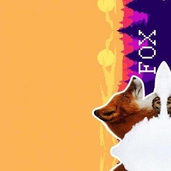 Наклейка на телефон FOX IN 8 BIT FOREST / w print