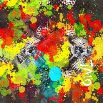 Наклейка на телефон OWL [ Colorful explosion ]