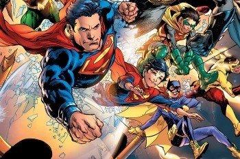 Наклейка на ноутбук Супергерои
