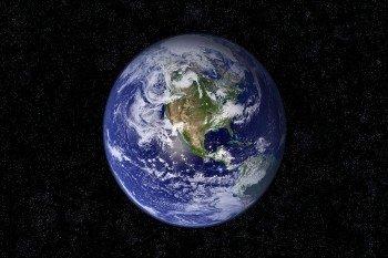 Наклейка на ноутбук Земля