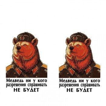 Наклейка на телефон Медведь