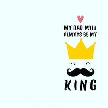 Наклейка на телефон My Dad King