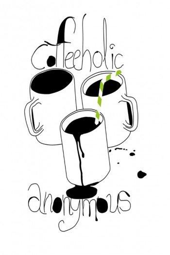 Наклейка на планшет Coffeholik Anonymous