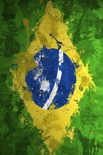 Наклейка на планшет Флаг Бразилии