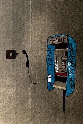 Наклейка на планшет Love Phone