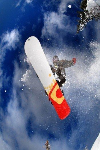 Наклейка на планшет Сноубордист