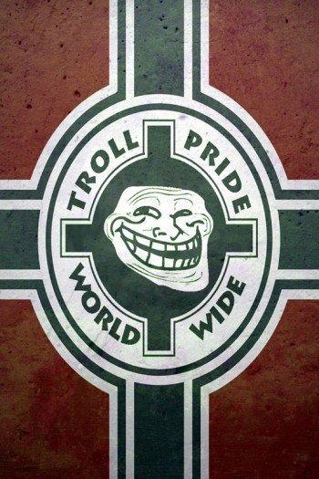 Наклейка на планшет Troll Pride