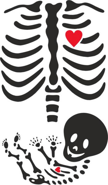Наклейка на стену Рентген