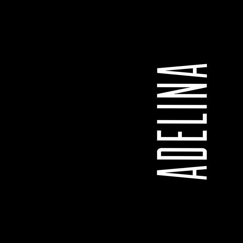 Наклейка на телефон Аделина - черный фон