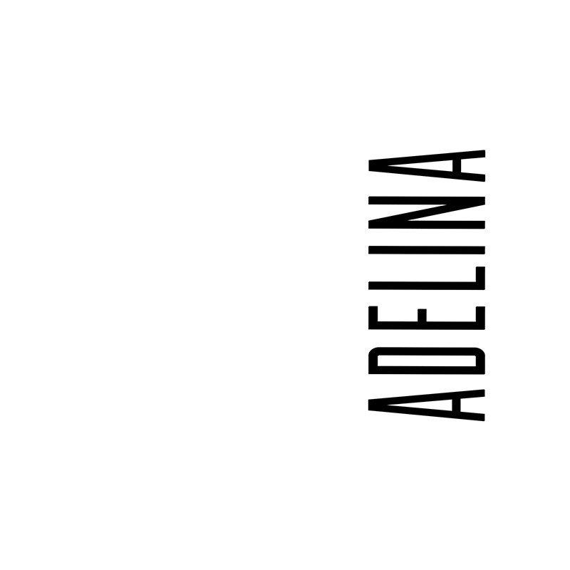 Наклейка на телефон Аделина - белый фон