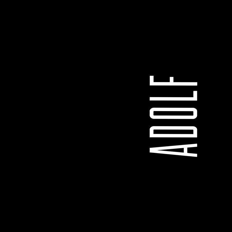 Наклейка на телефон Адольф - черный фон