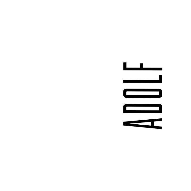 Наклейка на телефон Адольф - белый фон