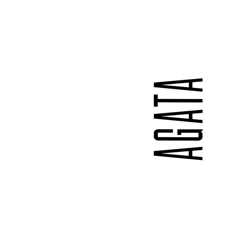Наклейка на телефон Агата - белый фон