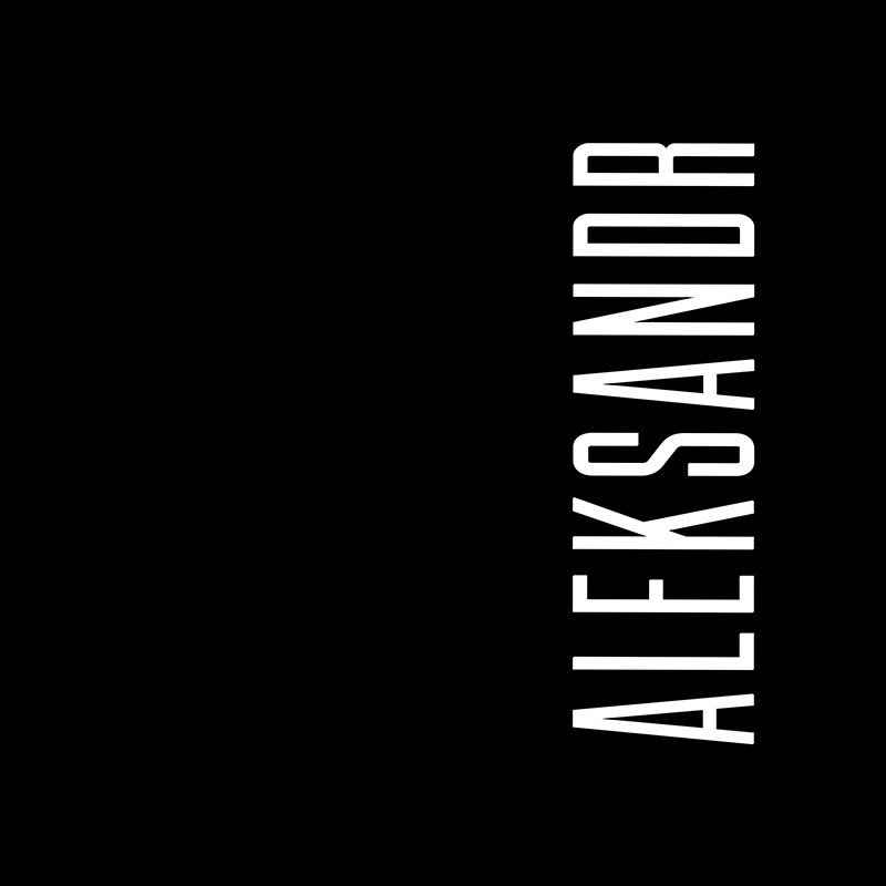 Наклейка на телефон Александр - черный фон