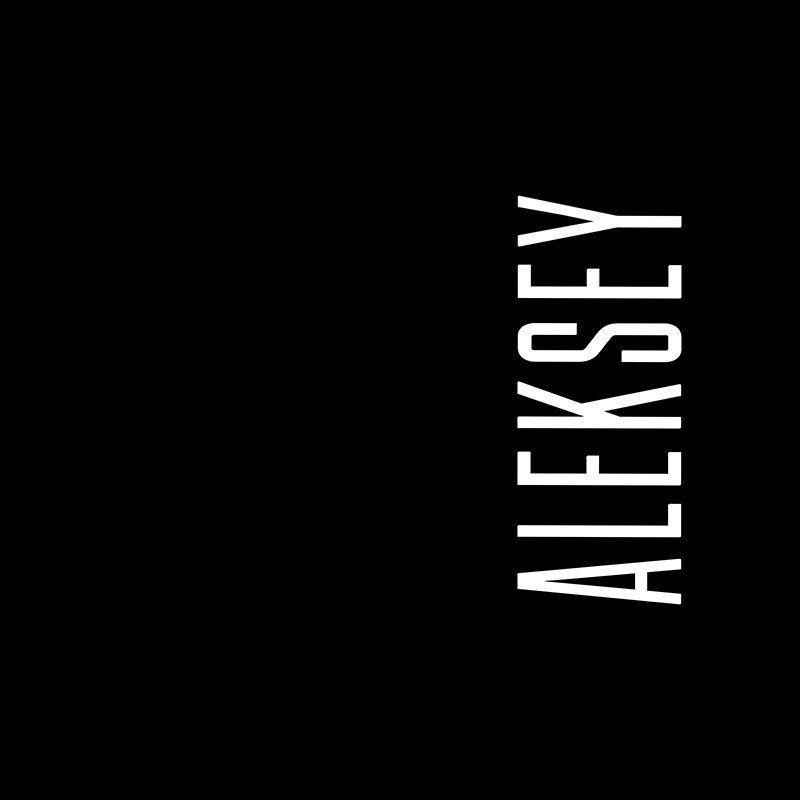 Наклейка на телефон Алексей - черный фон