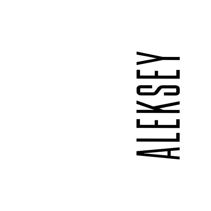 Наклейка на телефон Алексей - белый фон