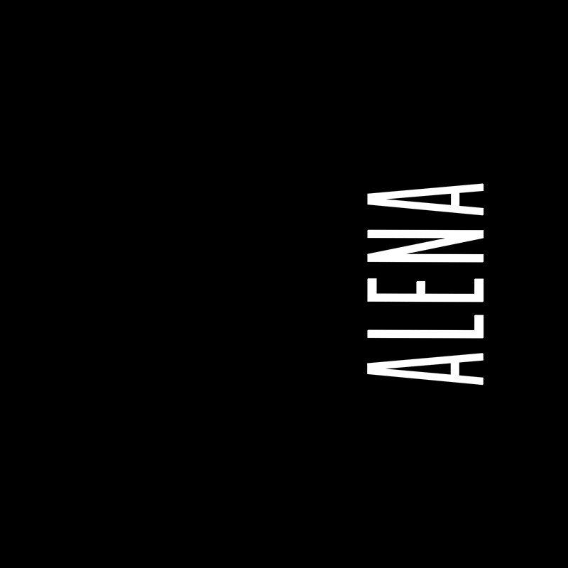 Наклейка на телефон Алена - черный фон