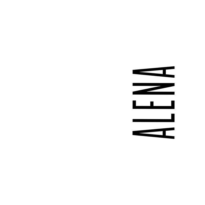 Наклейка на телефон Алена - белый фон