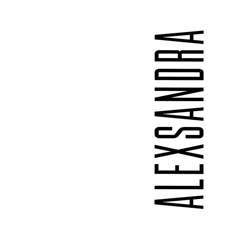 Наклейка на телефон Александра - белый фон