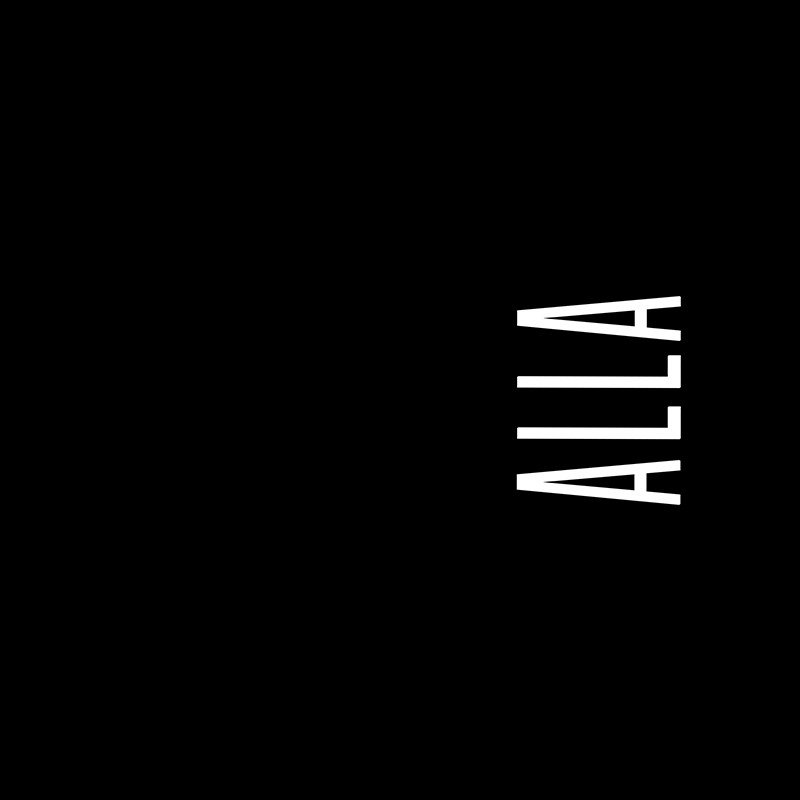 Наклейка на телефон Алла - черный фон