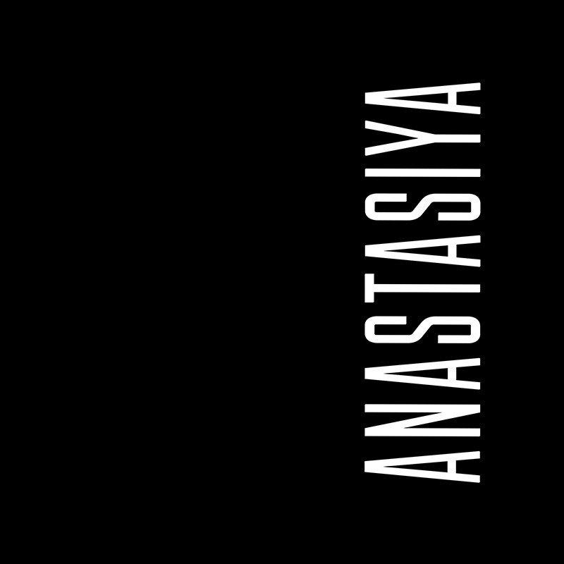 Наклейка на телефон Анастасия - черный фон