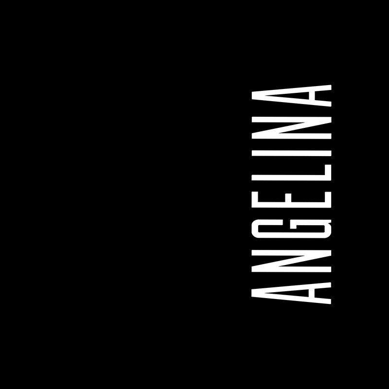 Наклейка на телефон Ангелина - черный фон