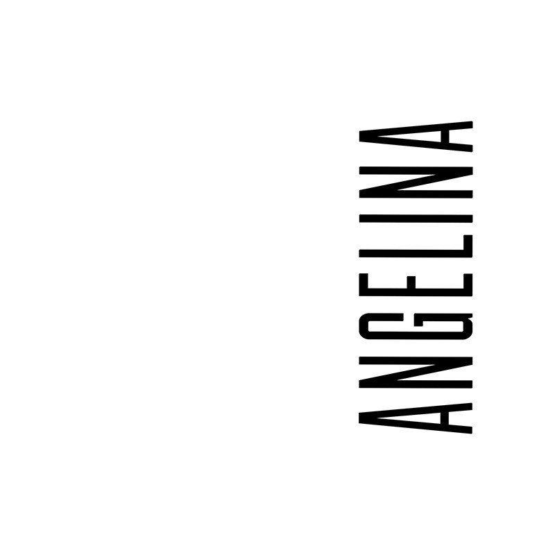 Наклейка на телефон Ангелина - белый фон
