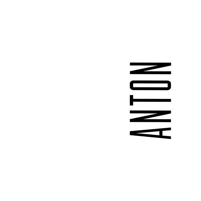 Наклейка на телефон Антон - белый фон
