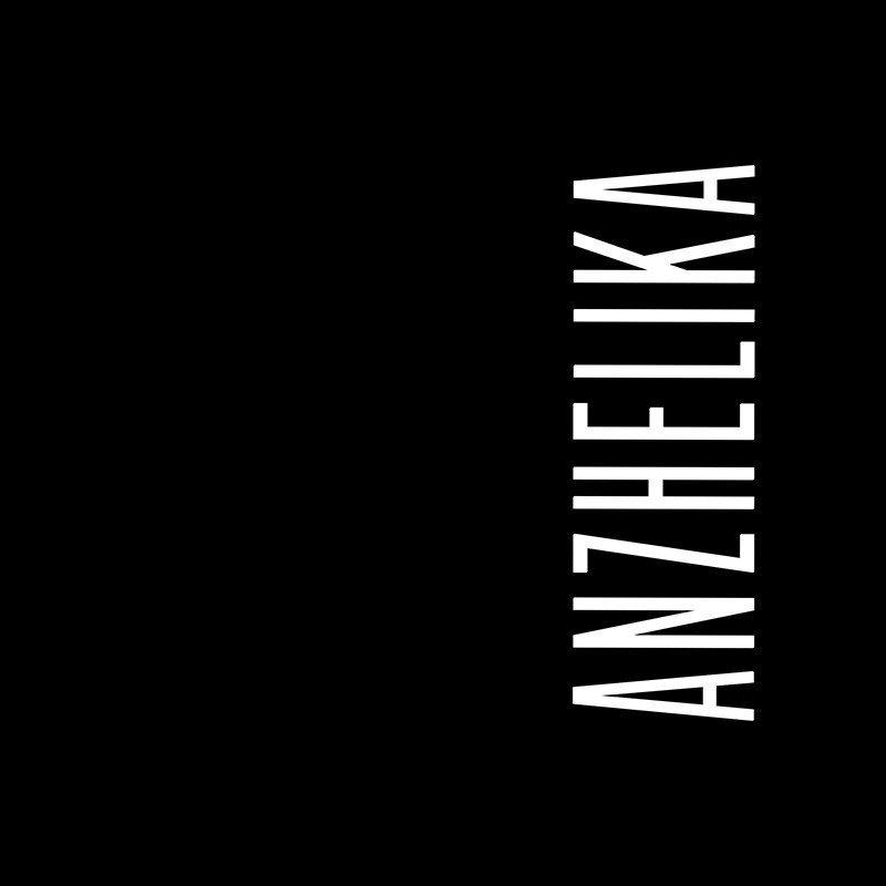 Наклейка на телефон Анжелика - черный фон