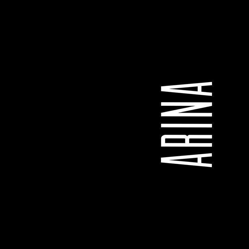 Наклейка на телефон Арина - черный фон