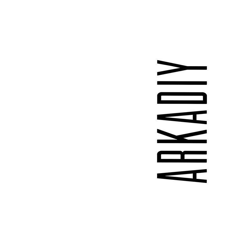 Наклейка на телефон Аркадий - белый фон