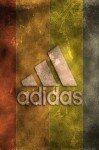 Наклейка на планшет Adidas на Буром Фоне