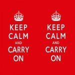 Наклейка на плеер Keep Calm