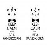 Наклейка на плеер Keep Calm Pandicorn