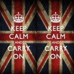 Наклейка на плеер Keep Calm Британия