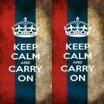 Наклейка на плеер Keep Calm Россия