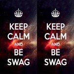 Наклейка на плеер Keep Calm Swag On