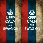 Наклейка на плеер Keep Calm Swag On Россия