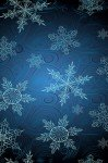 Наклейка на планшет Векторные Снежинки