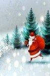Наклейка на планшет Дед Мороз