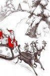 Наклейка на планшет Дед Мороз На Санях