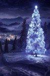 Наклейка на планшет Зимний Пейзаж